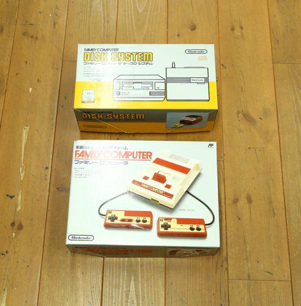 任天堂 ファミコンとディスクシステムの箱付を買取査定しました!